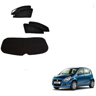 Auto Addict Zipper Magnetic Sun Shades Car Curtain With Dicky For Maruti Suzuki Ritz