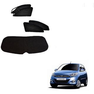 Auto Addict Zipper Magnetic Sun Shades Car Curtain With Dicky For Hyundai i10