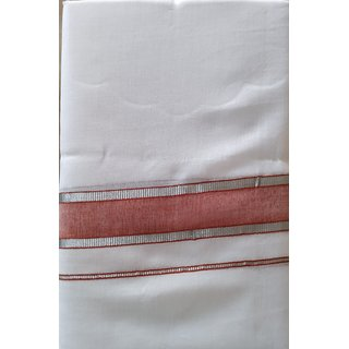 Fashionkiosks Mens Traditional  Colour  Border Dhoti