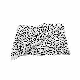 VARDHMAN Fur Cloth Dalmation Print Carpet (5mm Hair Length 38 x 34-inch)