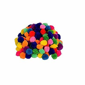 Pom Pom Multicolor Wool Balls for Art amp Craft Decoration Jewellery Making Pack of 230 2.8 cm Dia