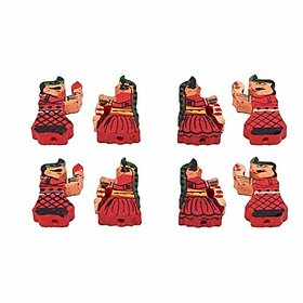 20 pcs Wooden Multicolored King amp Queen Beads Size 2.5 cm for Jewellery Making Dresses Beading Art and Crafts and Craft Work