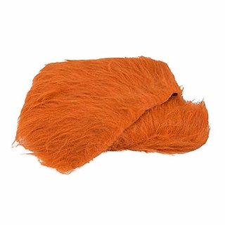 Fur Cloth Light Brown Long Hair Size 38quot x 34quot 9 Cms Hair Length Used for Dresses Soft Toys Making Jackets Etc