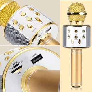 Tick Tok Premium Wireless Bluetooth Microphone With Recording and Singing Wireless Microphone