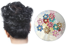 GadinStylo Black Hair Rubber Juda With 30 Pcs Multi Juda Pin for Girls and Womens Hair accessories Set
