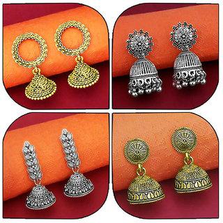 JewelMaze Set of 4 Earrings Combo