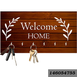 Welcome Home Wooden Key Holder(23.4Cmx12.8Cmx3Cm)
