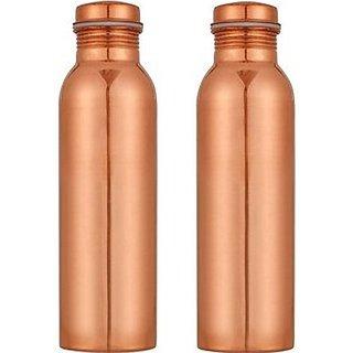 Buyerwell Copper Bottle 1000 ml Pack of 2,Yoga Bottle