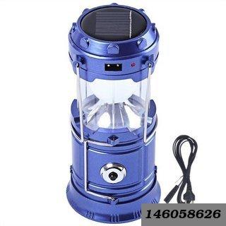 6 Led Portable Rechargable Emergency Light Lamp Tent Lantern Solar Charging