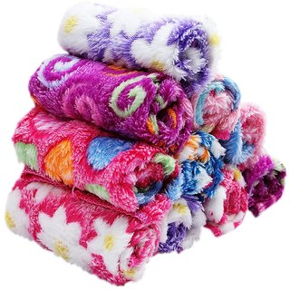Stonic Soft Sofex Microfiber Love Touch Womens  Girls Face Hanky - Multi Color(Pack of 6)