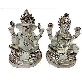 God Idol Silver Laxmi  Ganesh 10 MG Idol BY CEYLONINE