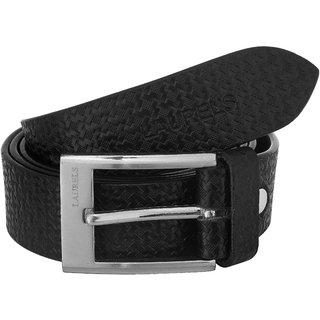 Laurels Black Color Genuine Leather Classic Men'S Belt