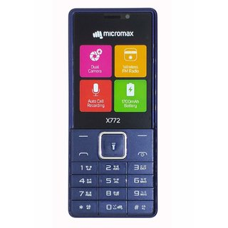 Micromax X772 Dual Sim 1700 mAh Battery, 2.4 Inch Display Size Mobile With Dual Camera And  FM