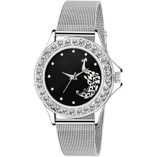 Bye TC-130-Black Dial-SHAFFER Chain Watch - For Women