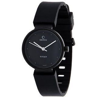 Titan Obaku Analog Black Dial Womens Watch - 9939NP01