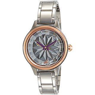Fastrack Analog Silver Dial Womens Watch-6132KM01