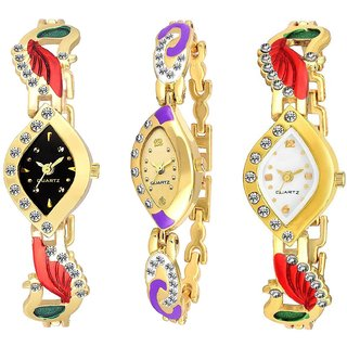 FancyLook Analog love AKS Combo Pack Of 3 Multicolour Fashion Design watches women watches ladies watches girls watches designer watches