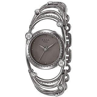 Titan Raga Aurora Analog Silver Dial Womens Watch-95049SM01