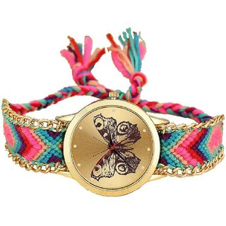 Women Wadding (Buttrfly) party Handmade Bracelet  Hand Girls  Ladies Braslate Watches