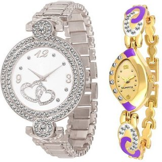 Letest fresh Arrival Silver Color attractive Designer looks With 1 year Warranty Watch - For Girls