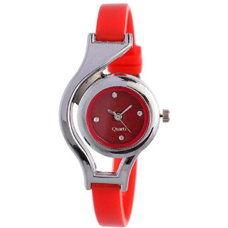 Rjcreation Formal Looks red Analog Wrist watch for girls and women 6 MONTH WARRANTY