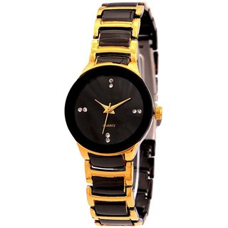 Iik Collection Round Dial Multi Metal Strap Watch for Women