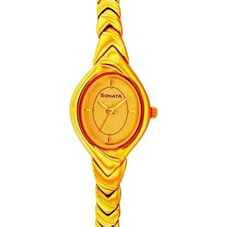 Sonata  Analog Gold Dial Womens Watch -  NC8954YM02