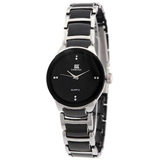 Iik Collection Round Dial Multi Ceramic Strap Watch for Women