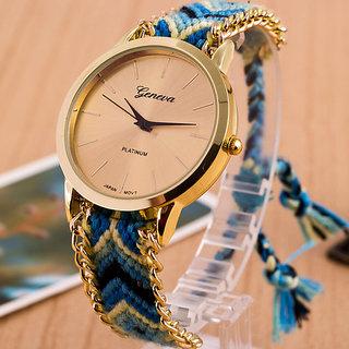 Blue colour geneva watch by morli