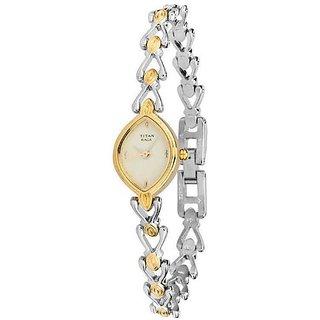 Titan Raga Analog Gold Dial Womens Watch - NB2250BM06