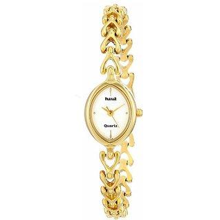 HWT Gold Analog Metal Quartz Oval watch for women