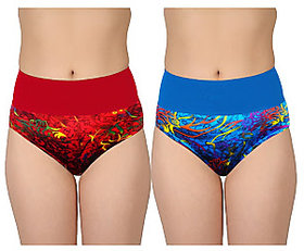 Women's printed tummy tucker pantie pack of 2 ( color  print may differ )