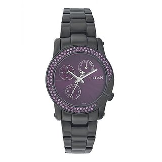 Titan Purple Chronograph Purple Dial Womens Watch - 9930NM01