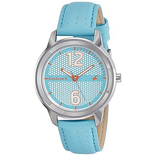 Fastrack Loopholes Analog Silver Dial Womens Watch-6169SL02