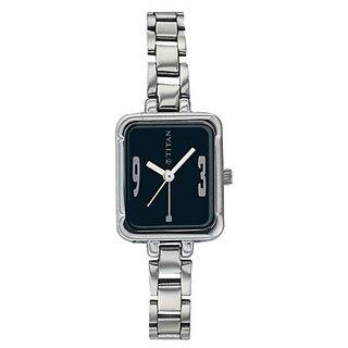 Titan Karishma Minute Display Analog Black Dial Womens Watch - NB2421SM03