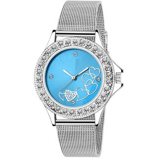 LADIES Best TC-131-Blue Dial-SHAFFER Chain Watch - For Women