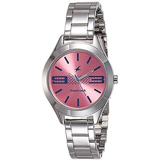 Fastrack Analog Pink Dial Womens Watch-6153SM02
