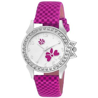 Pinky Flower Exclusive Design Watch For Women