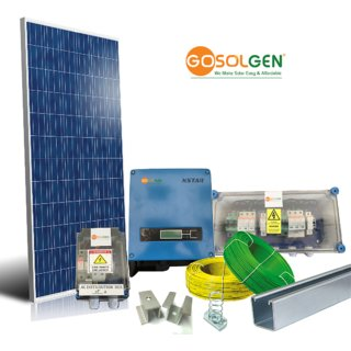3kWp Grid-tied Solar - Generates Avg 360 Units Per Month