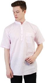 Kaddy Men's Pure Cotton Half Sleeve Straight short Kurta
