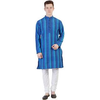 Kaddy Men's Cotton Full Sleeve Straight Long Kurta
