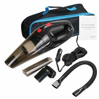 Tradeaiza Portable 150W 12V Car Vacuum Cleaner Multi Use Mini Super Suction Wet and Dry Random Color