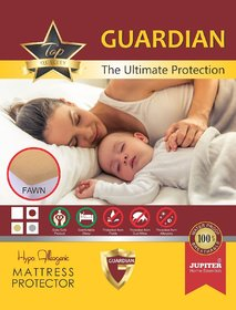 Zolo CT 78H F - Cotton Terry - Hypo Allergenic - Water Proof Mattress Protector - Guardian 72 x 78 x 12 - Fawn - Elas