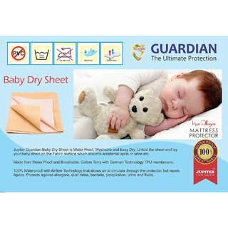 Zolo Baby Dry Sheet Cotton Terry - Water Proof Mattress Protector - 70 x 100  cms