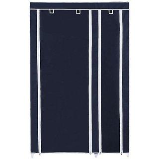 VOX Best Fancy and Foldable/Portable Wardrobe Organizer (Almirah) Double Door