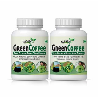 Natural Health Care Green Coffee Stay Fit With Boost Your Energy 2 Pack 120 Capsules
