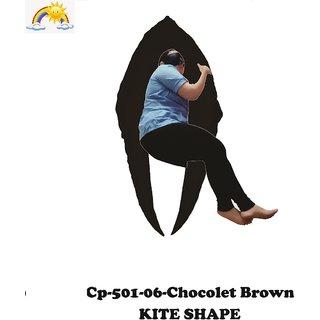 Comfort Pillows Kite Shape CP501 choco Brown Maternity/Pregnancy Fiber Pillow For pregnant women Wgt-2.59Kg 152 X 95 X 8