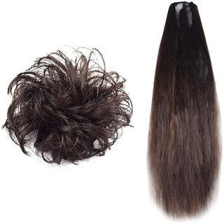 Maahal Stylish Hair Rubber Juda  Prandi (Brown) for Women / Girls