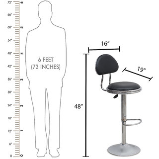 DZYN Furnitures DZYN Furnitures Metal Bar Chair (Finish Color - Black)