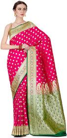 Banarasi Silk Works Pink Banarasi Silk Saree
